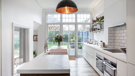 kitchen, fitted with appliances, under floor heating