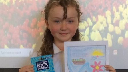 Ffion, a Year 4 pupil at Corton C of E Primary School, had her logo design chosen as the winner of a competition.
