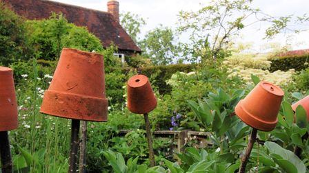 Country garden at Rustling End Cottage, Codicote