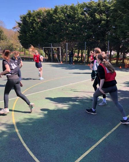 Youngsters loving netball return