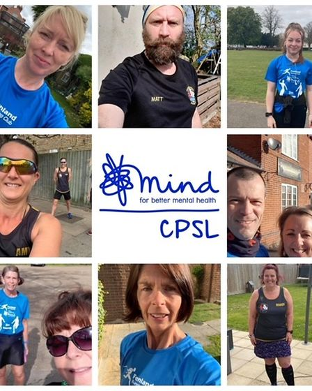 Some of the Three Counties Running Club athletes who took part in the relay for CPSL MIND.