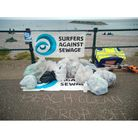 A beach clean pick up point in Sidmouth