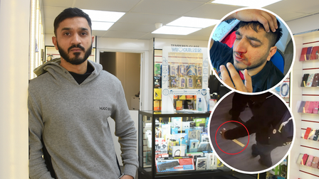 Imran Mohammed, the owner of Mobile Clinic in Orford Place, Norwich.
