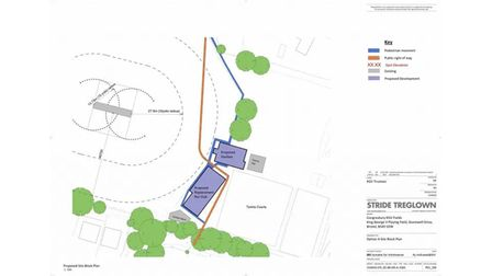 Site plans for Congresbury Recreational Club and the areas surrounding the King George V Playing Fie