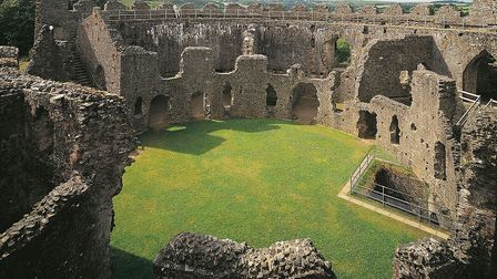The ruins of Restormel Castle in Cornwall