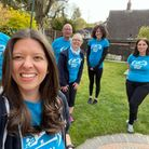 #TeamMercy after their walk from Royston to Therfield in aid of Mercy Ships