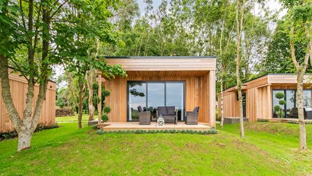 The dog-friendly lodges at Tinwood Estate