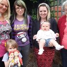 Suzy Hinds, left, on her last visit to Honiton before her cancer was diagnosed