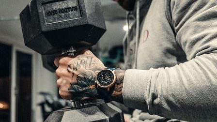Exeter Chiefs rugby star Jack Nowell with hisOlivier Meylan watch