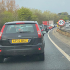 Roadworks on the A47 are causing delays.