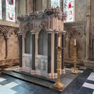 The restored Shrine of St Amphibalus at St Albans Cathedral.