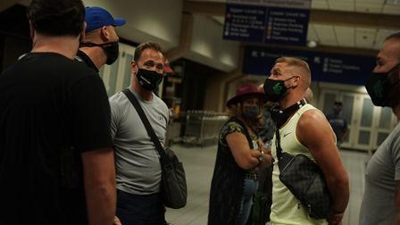 Billy Joe Saunders has arrived in Texas ahead of his fight with Saul Canelo Alvarez