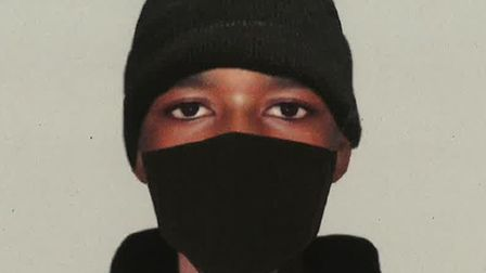 An E-fit of a man police believe was involved in a knifepoint robbery in Roding Valley Park Trail, Woodford Green