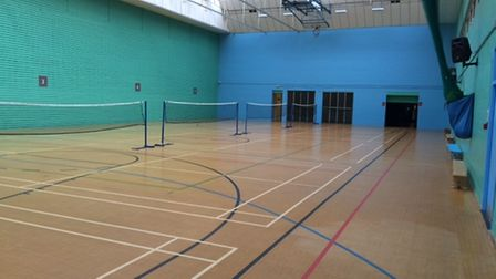 The sports hall at Vale Farm Sports Centre