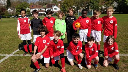 Islington primary district team face the camera