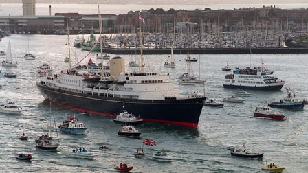 The Royal Yacht Britannia sails into Portsmouth today (Saturday) for the last time before she is dec