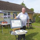 Paul Hunt organised an exhibition outside his home for VE Day. Picture: Paul Hunt