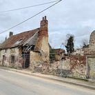 Three derelict cottages at29 Dovecote Road,Upwell, sold for £122,000 at auction.