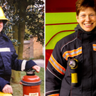 One of Cambridgeshire's first woman firefighters, Nicola Barlow, is retiring after 30 years of service.