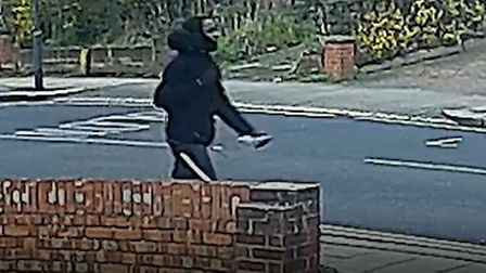 CCTV footage of man with knife in Wembley, London
