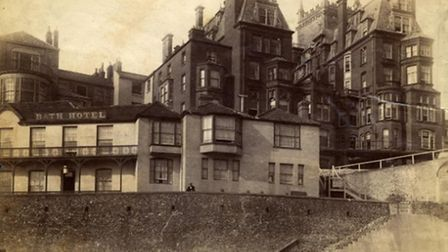The Bath House, one of Cromer's iconic seafront buildings, in 1896. Some people lost their lives try