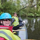 Sophie Walton, member of Canoe Cluband Clare Whiteleg from the River Trust.