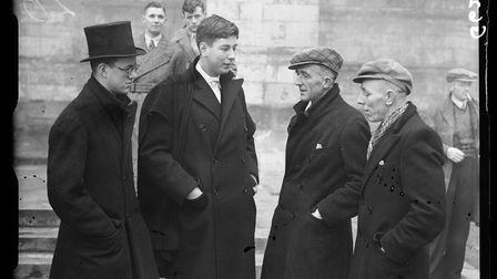 Durham miners meet Etonpupils in 1938, ahead of the second game between the two sides