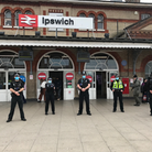 Suffolk police officers at Ipswich railway station