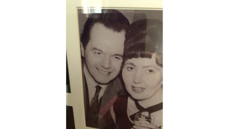Jantje Huggins and husband Stan as a young couple