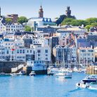 The pretty harbour of St. Peter Port, Guernsey, Channel Islands, United Kingdom