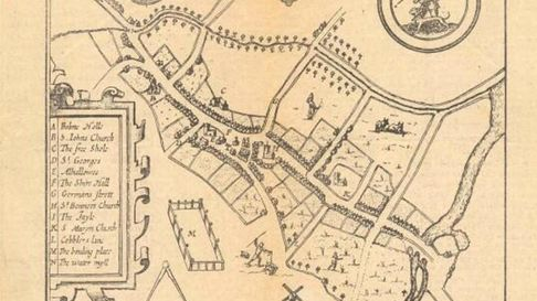 This map shows how Huntingdon would have looked 300 years ago.