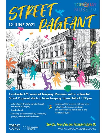 Apageant through the streets of Torquay will help celebrate the museum's 175th anniversary