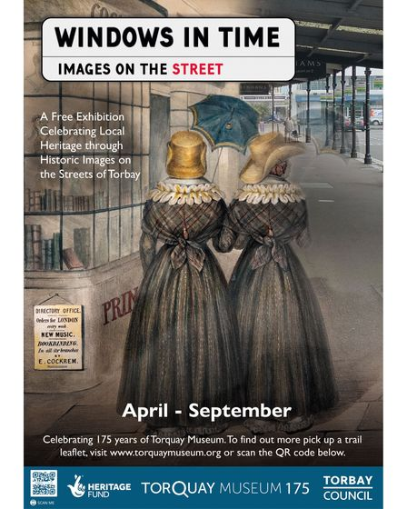 The Windows in Time exhibition is a free, outdoor trail of historic images of the area, sited close to where they were taken