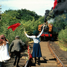 An iconic scene in The Railway Children filmed on theKeighley & Worth Valley Railway