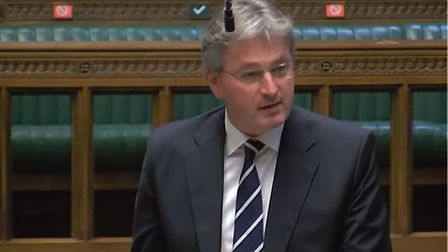 Pro-Brexit Tory MP Daniel Kawczynski in the House of Commons. Photograph: Parliament TV.