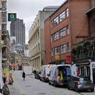 Cowcross Street where the street food market is held