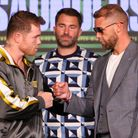 Saul Canelo Alvarez and Billy Joe Saunders face off at the final press conference