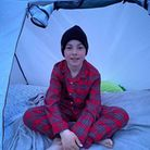 Ashley Owens from Welwyn Garden City is camping out to raise money for rescue dogs