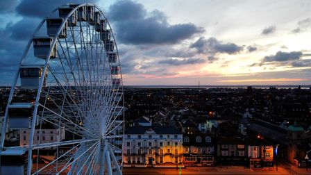 The Giant Wheel on Great Yarmouth seafront.