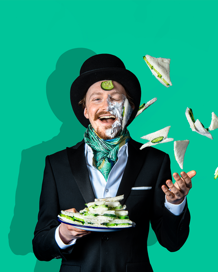 Promo image for Slapstick Picnic's production of The Importance of Being Earnest by Oscar Wilde