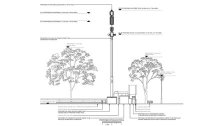 Plans for a phone mast on Dartmouth Road, Paignton