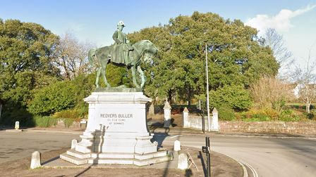 The Statue of General Redvers Buller one Hele Road, Exeter