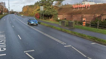A car and a bicycle were involved in a crash on Felixstowe Road, Ipswich