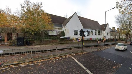 Highgate primary school, pictured from North Hill