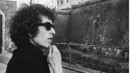 Bob Dylan contemplates Kronborg Castle shortly after arriving in Denmark to start his 1966 world tour