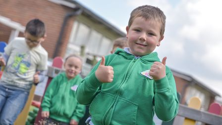 Children at Rushmere Primary School all took part in Deaf Awareness Week by wearing green
