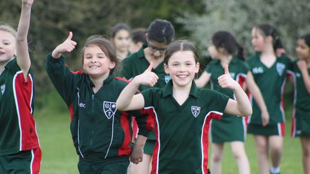 Students at Stormont School in Potters Bar took part in the Captain Tom 100 challenge