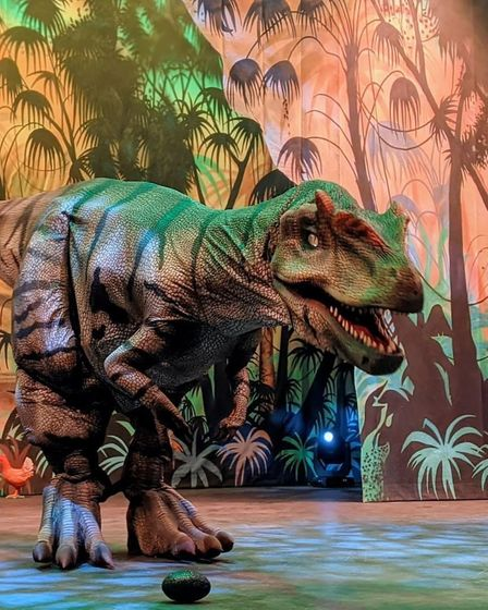 Dinomania, featuring giant walking dinosaurs, is heading to Norfolk this summer.