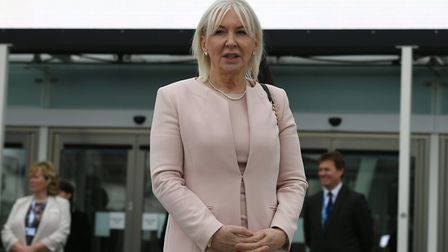 Health minister Nadine Dorries outside NHS Nightgale Hospital in London; Stefan Rousseau, PA Wire/PA