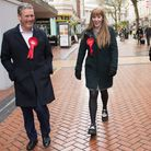 Leader of the Labour Party Sir Keir Starmer (far left) with Deputy Leader, Angela Rayner